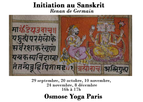Osmose Yoga Paris - Initiation au Sanskrit